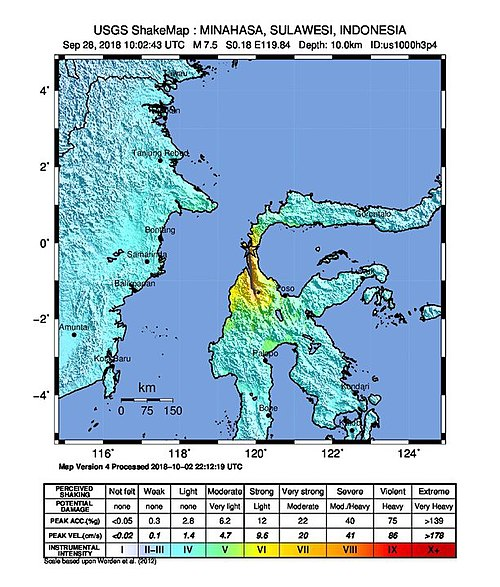 Strength quake hits Indonesia's Sulawesi killing at least seven, injuring hundreds