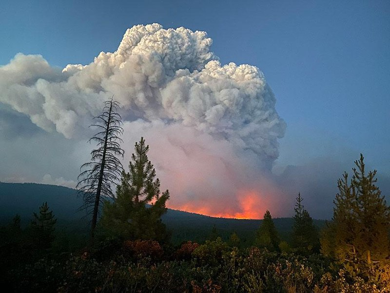'The Bootleg Fire 'in Oregon is so big it generates its own weather