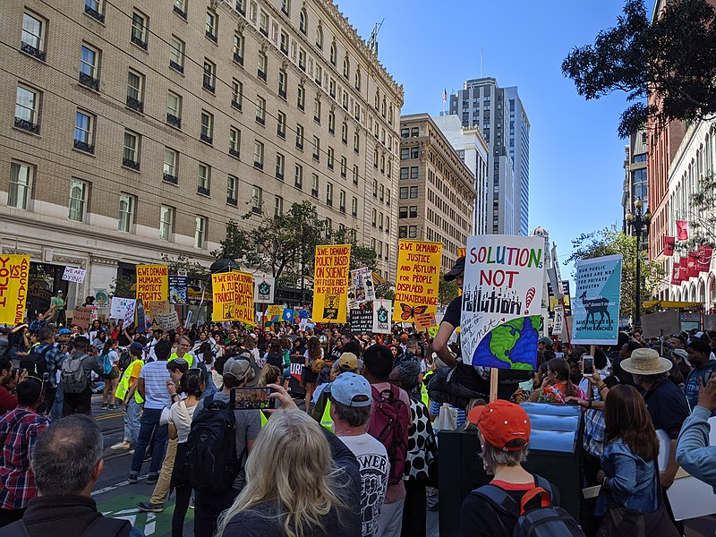 Thunberg leads youth campaigners on a global climate strike on Friday