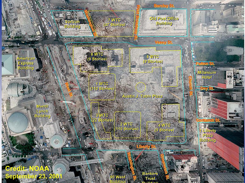 NASA satellite image shows effects of 9/11 attacks